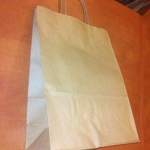 Sodrott fules papirtaska 26x35cm barna