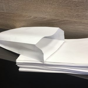 eltalpas papirzacsko feher 14x25 cm
